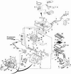 Детали системы питания двигателей GA14DE и GA16DE