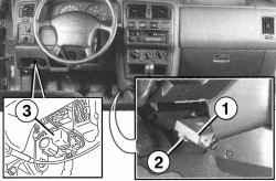Размещение агрегатов КСУД в салоне автомобиля
