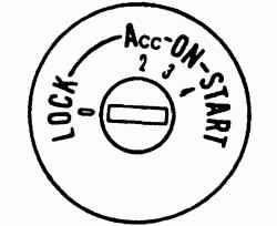 Выключатель зажигания или выключатель приборов и стартера (на автомобилях с дизельным двигателем)