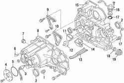 Детали картера коробки передач