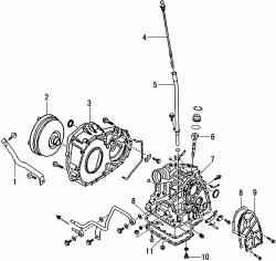 Детали картера автоматической коробки передач