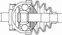Шарнир равных угловых скоростей наружный ZF80 или ZA90