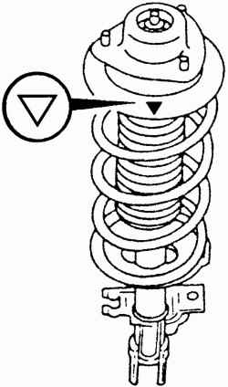 Расположение метки, которая должна быть направлена в сторону колеса