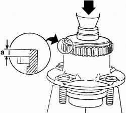 Установка ротора датчика скорости вращения заднего колеса