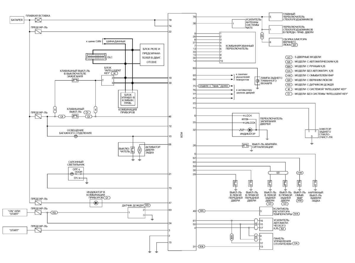 Схема блока управления nissan фото 699