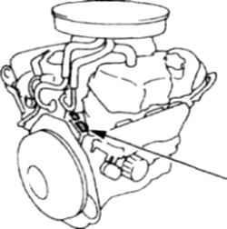 1.4 Место нанесения номера на 6-цилиндровых двигателях