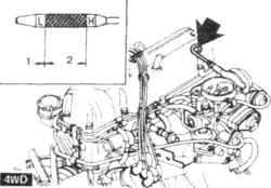 4.4а Расположение щупа на автомобилях с колесной формулой 4x41. Добавить2. Нормальный уровень