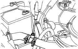 40.4 Вентиляционный клапан системы охлаждения на двигателях V6