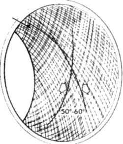 14.3б Примерный вид поверхности цилиндра после хоннингования