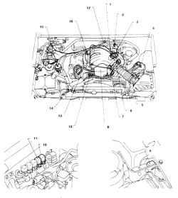 9.1б Агрегаты системы прямого впрыска двигателя V6