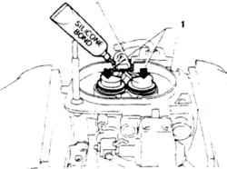 13.13 Смазка сквозного уплотнителя проводов силиконовым составом 1. Втолкните