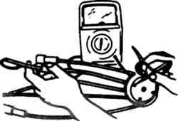 2.7а  Проверка сопротивления провода и контакта в крышке распределителя