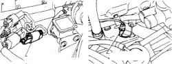 9.10 Разъем датчика кислорода на двигателях V6 и KS4