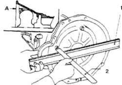 7.27 Проверка установочного размера А гидротрансформатора