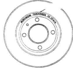 4.5а Место  нанесения предельной толщины диска