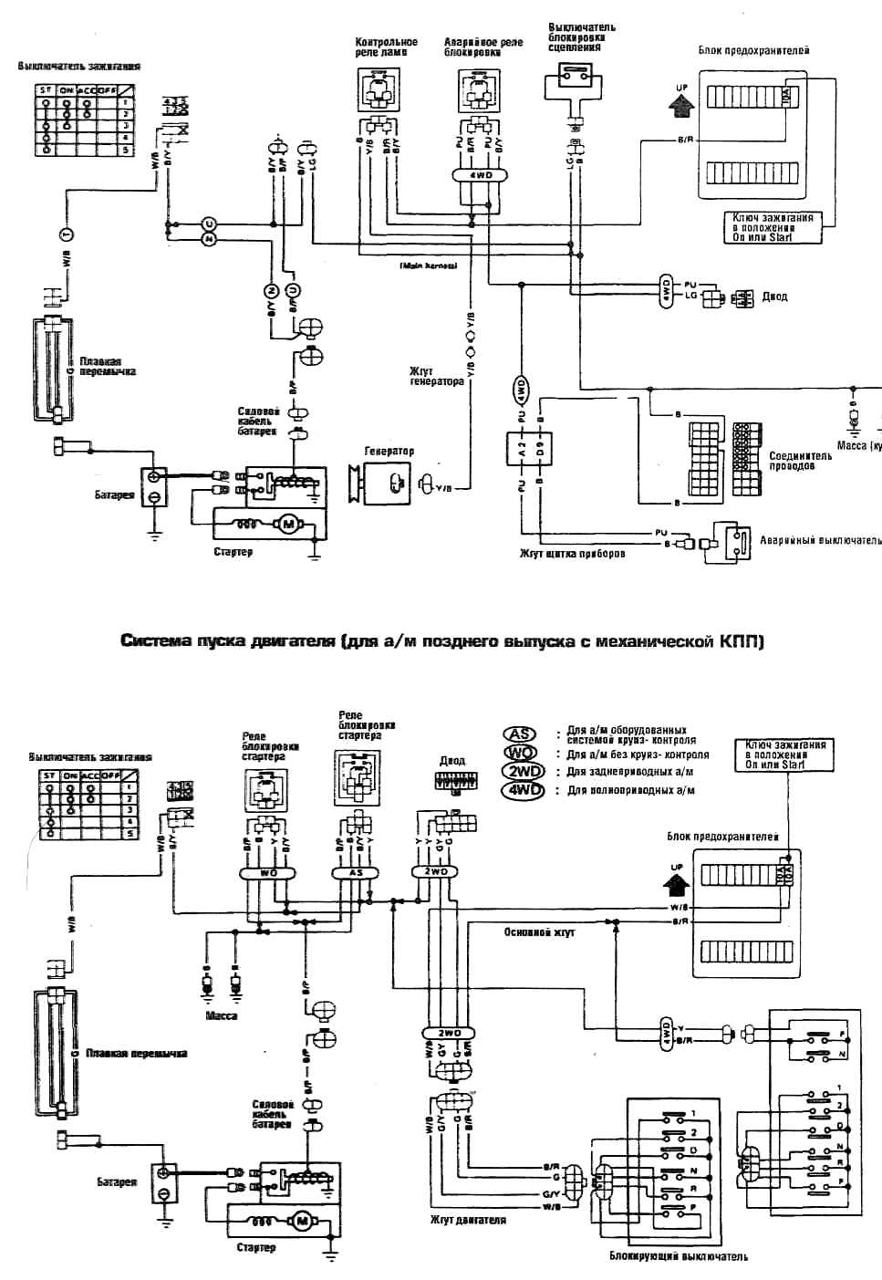 схема зажигания нисан терано 2