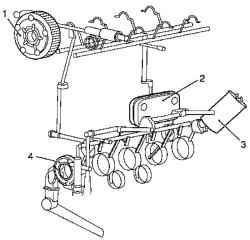 Контур смазки бензинового двигателя Z 18 XER DOHC-I