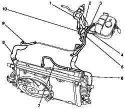 Заправка и удаление воздуха из системы охлаждения Опель Астра Г.