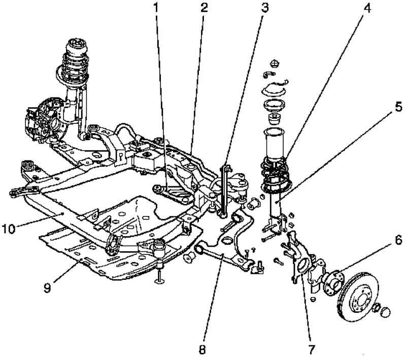 Схема подвески opel astra h