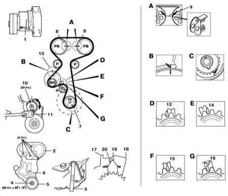 генератора схема б ремень вектра