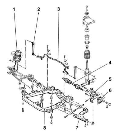 Ремонт и обслуживание/ Opel Astra B 1998-2004 12.0 Подвеска и рулевое управление.