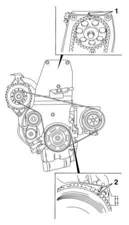Порядок выполнения процедуры.  Схема расположения установочных меток зубчатых колес распределительного(1)...