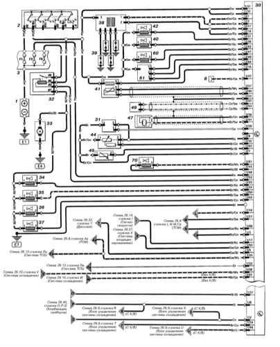схема зажигания опель астра