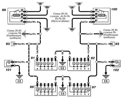 0. последний: 04.09.10 от.  Astra G Принципиальная схема.  Указатели поворотов.