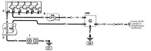 Принципиальные схемы электрических соединений Опель Астра Б.