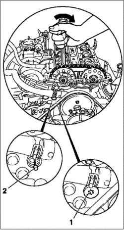 Регулировка фаз газораспределения (Z10XE, Z10XEP, без кондиционера)