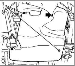 Снятие и монтаж насоса охлаждающей жидкости (Z10XE, Z10XEP,с кондиционером)