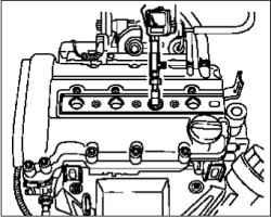 Проверка компрессии (двигатели 1,4–1,8 л)