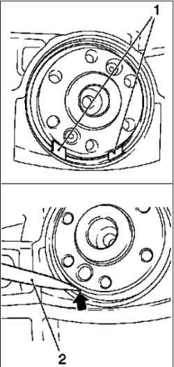 Замена заднего сальника коленчатого вала