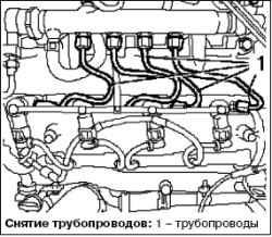 Снятие и установка топливных форсунок