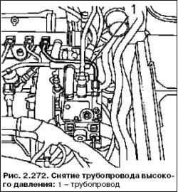 Замена топливопровода высокого давления (Насос высокого давления – напорная камера)