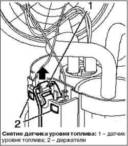 Замена датчика уровня топлива
