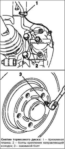 Замена тормозного диска переднего колеса
