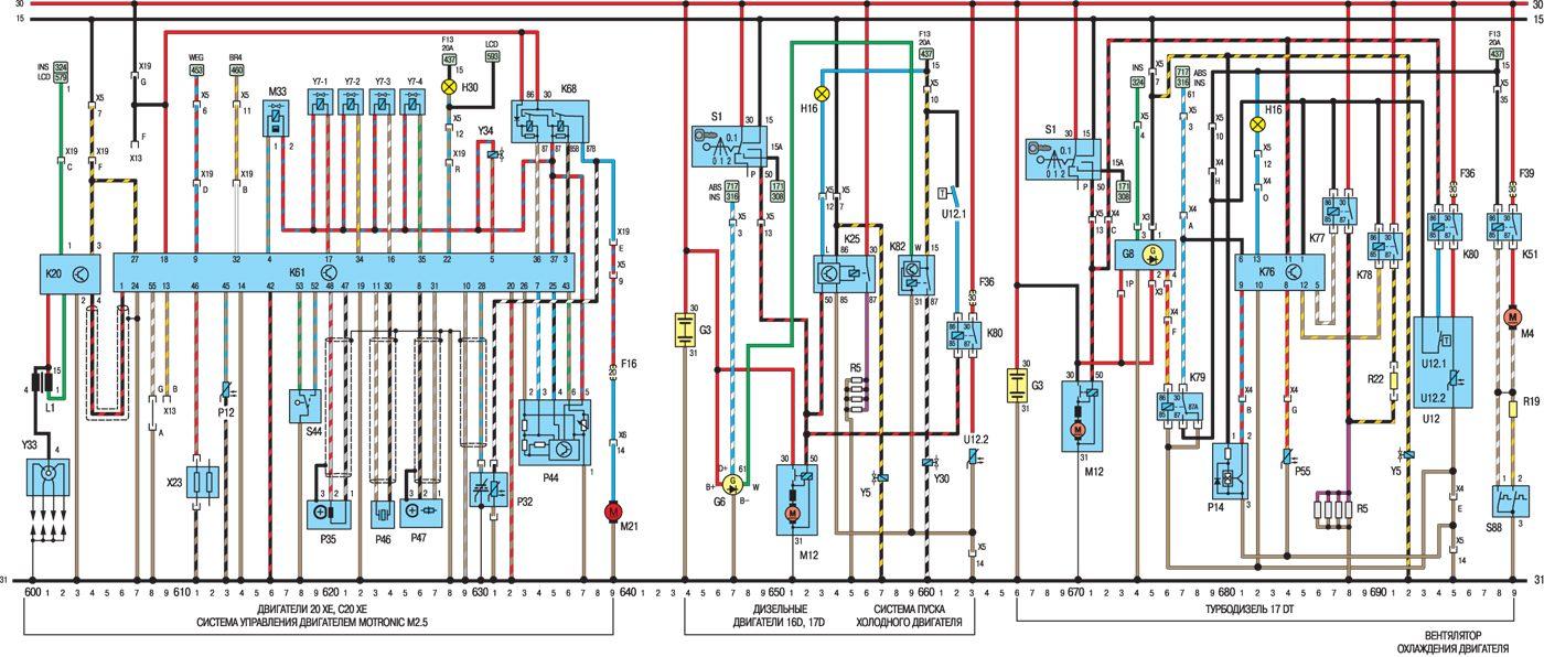 Это изображение было загружено к публикации. электросхемы. opel kadett. электрооборудование.