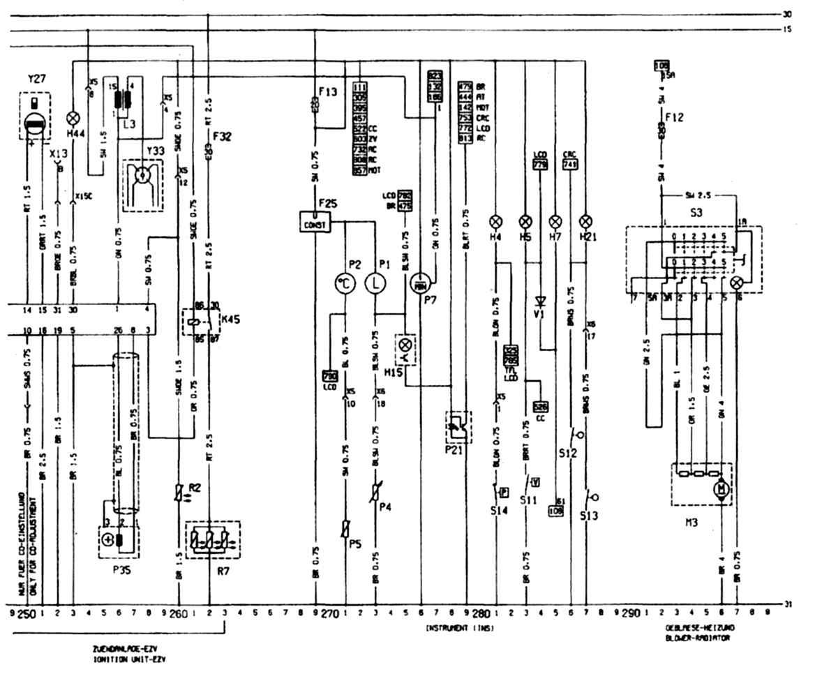 схема датчиком на опель омега в