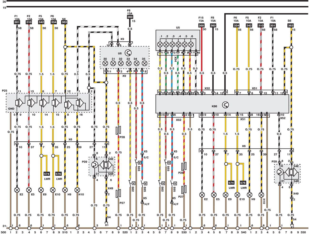 Электросхемы автомобиля Opel Omega (1993-1999).  Все схемы в отличном качестве и с подробным описанием компонентов.