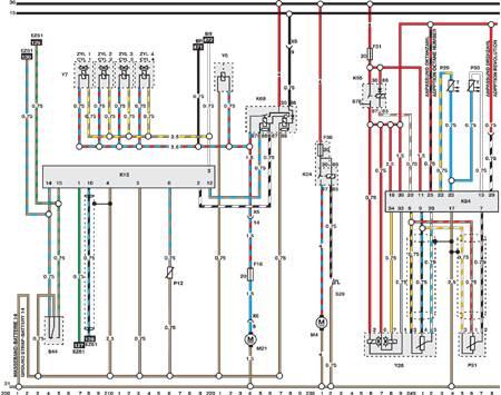 Система управления двигателем и трансмиссией (типовая схема) Opel Omega.