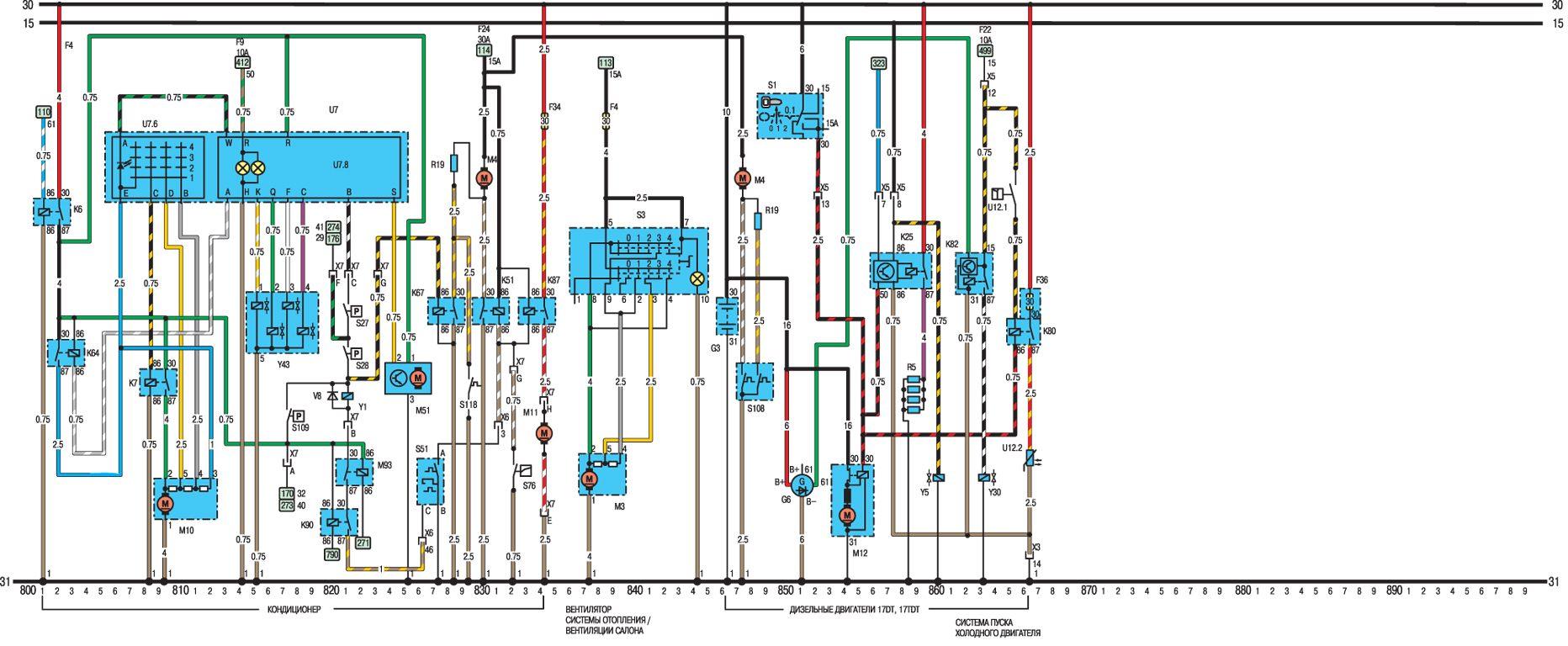 Пояснение к электрическим схемам моделей с 1991 года.  ABS Антиблокировочная тормозная система 4WD Полный привод АС...