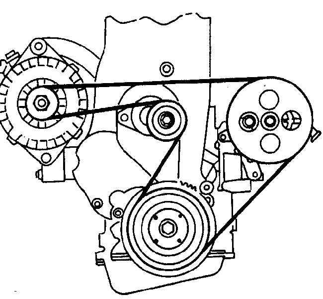 Замена ремня генератора на опель вектра