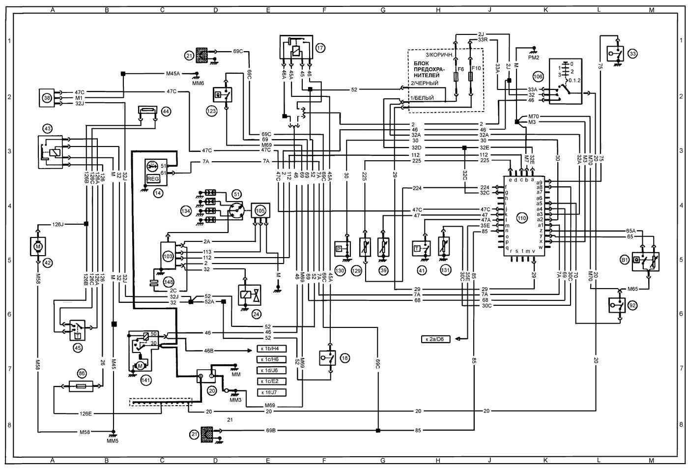 Схема для peugeot 405