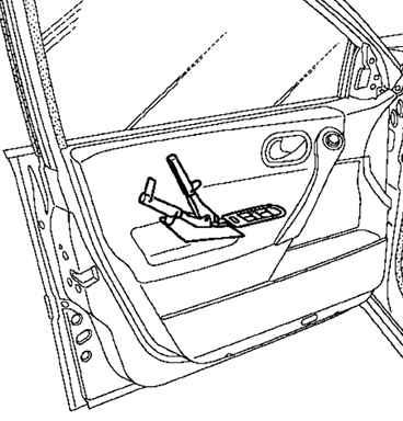 Снятие и установка наружной ручки двери Рено Меган 2.