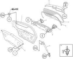 Элементы двери задка (для моделей с кузовом универсал)