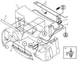 Элементы крышки багажника (для моделей с кузовом седан)