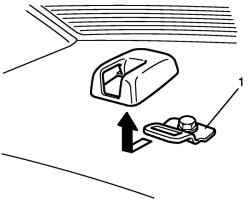 Снятие крепления ремня и крышки заднего центрального ремня безопасности
