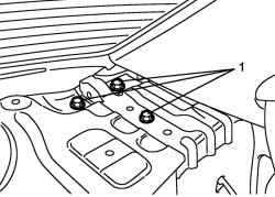 Крепление шарнира крышки багажника