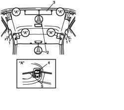 Снятие рукояток и пистонов внутренней обивки крыши